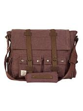 Multi Pocket Canvas Messenger Bag - The House Of Tara
