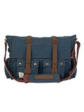 Multi Pocket Canvas Satchel Bag - The House Of Tara