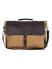 Faux Leather Detachable Strap Office Bag - The House Of Tara