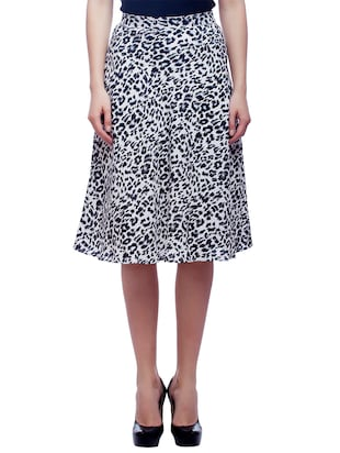 black , white crepe skirts
