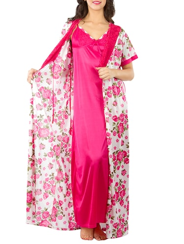 bf812ec1cd Buy Pink Polyester Sleepshirts   Nighty by Soie - Online shopping ...