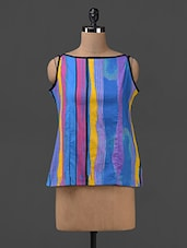 Printed Sleeveless Cotton Top - SHREE