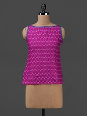 Chevron Printed Sleeveless Cotton Top - SHREE