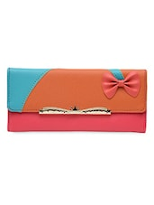 Bow Embellished Multi Colour Clutch - Lass Lee