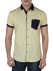 light yellow cotton casual shirt -  online shopping for casual shirts