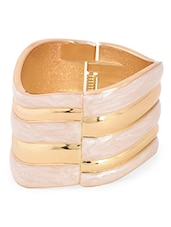 Cream & Golden Metal Alloy Bracelet - Bg's