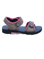 Grey & Pink Velcro Closure Floaters - Irus-Viger