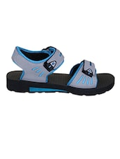 Grey & Blue Velcro Closure Floaters - Irus-Viger