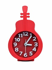 Red Plastic Table Clock - By