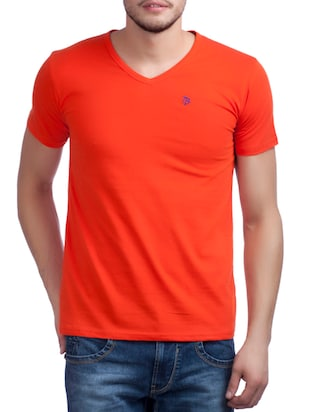 orange cotton tshirt