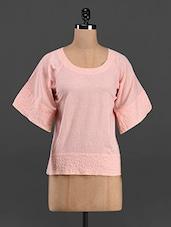 Cotton Round Neck Top - The Shop