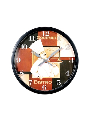 Bistro chef wall clock