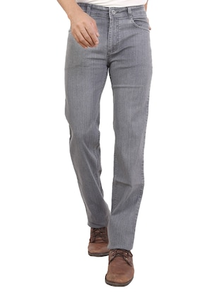 solid grey denim jeans -  online shopping for Jeans