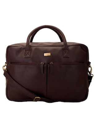 brown faux leather laptop bag -  online shopping for Laptop bags
