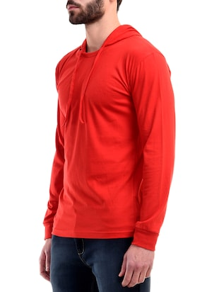 red cotton t-shirt - 10853664 - Standard Image - 2