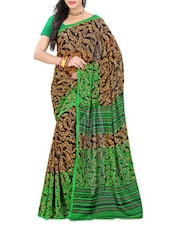 Leaf Printed Georgette Saree - Ambaji