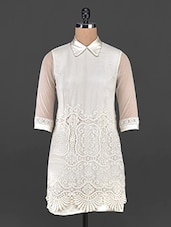 Elegant Cream Collared Lacy Dress - MARMALADE