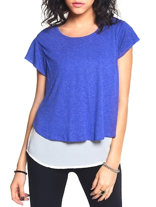 blue layered top