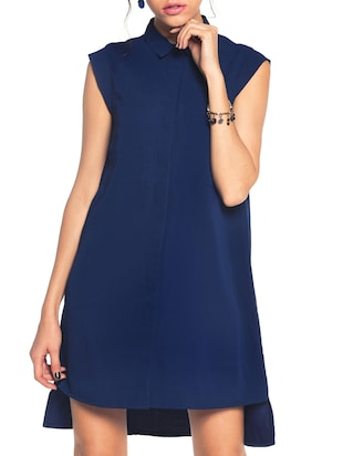 navy blue aline dress