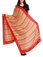 Red Rayon Dupatta - By