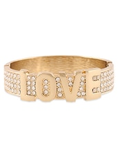 Gold Plated LOVE Bracelet - Young & Forever