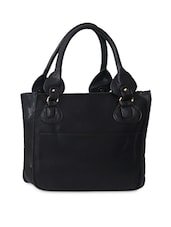 Black Faux Leather Bag Set - Carry On Bags