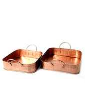 METAL TRAY SET OF 2 - By