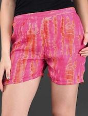 Printed Georgette Shorts - Lavennder