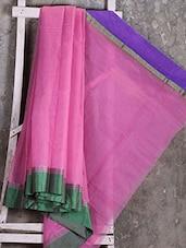 Ganga Jamuna Border Pink Kota Saree - Shiva Saree