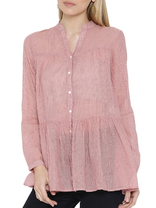 pink cotton blouse -  online shopping for Blouses