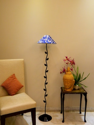 Floor lamp buy standing wooden floor lamps online in india zig zag leafy floor lamp with 13 pyramid shade online shopping for aloadofball Choice Image