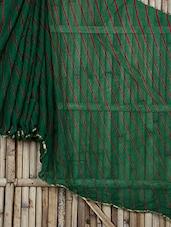 Printed Green Chiffon Saree - Saree Street
