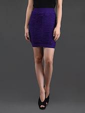 Purple Gathered Pencil Skirt Cum Tube Top - N-Gal