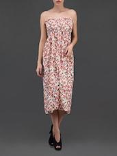 Smocked Bust Floral Print Chiffon Midi Dress - N-Gal