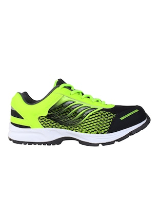 green leatherette sport shoes - 10902067 - Standard Image - 2