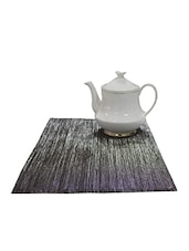 Hemmed Finish Table Mat Set Of 2 Pcs Grey/Silver - By