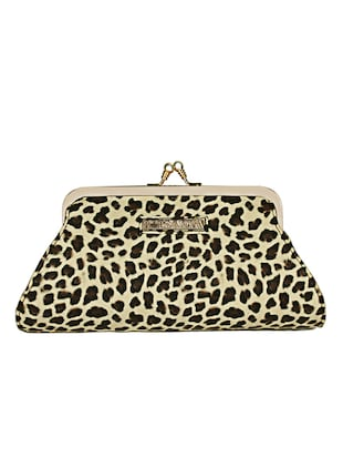 cream leatherette (pu) regular clutch