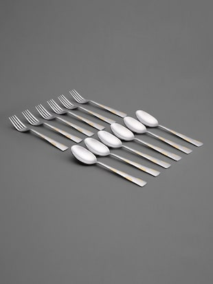 Stainless Steel Forks & Spoons Set