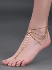 Gold Plated Multi Layer Chain Anklet - YOUSHINE