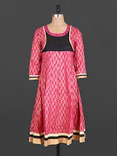 Round Neck Paisley Print Cotton Kurta - Maya Antiques