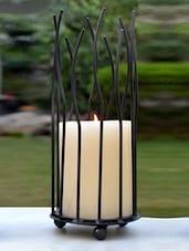 Black Powder Coated Iron Candle Holder - AG