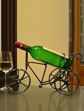 Black Iron Bicycle Wine Bottle Holder - AG