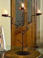 Black Iron Tree Tea-light Candles Holder - AG