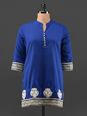 Mandarin Collar Short Cotton Kurta - KAJJALI