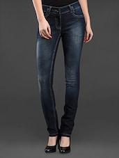 Dark Blue Denim Skinny Fit Jeans - SPECIES