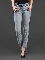 Light Blue Denim Slim Fit Jeans - SPECIES