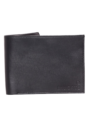 ALLIGATE Leather Black Wallet for Men