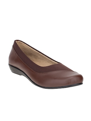 brown leatherette slip on formal shoes -  online shopping for formal shoes
