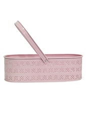 Baby Pink Basket Planter - Gifts By Meeta