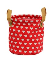 Red Heart Printed Bag Planter - Gifts By Meeta